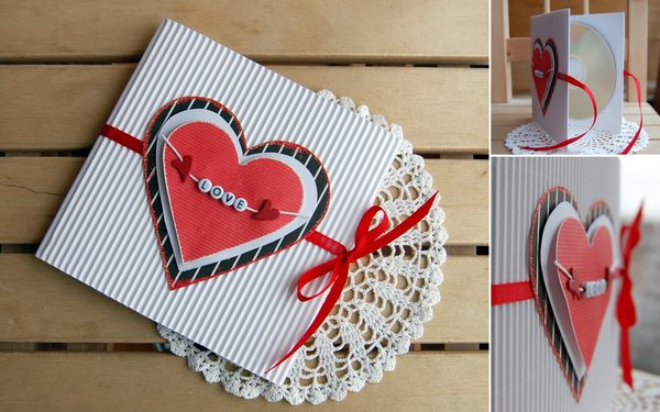 Оригинальные валентинки из бумаги