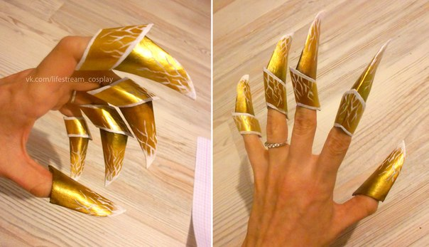 Как сделать перчатки с когтями из бумаги