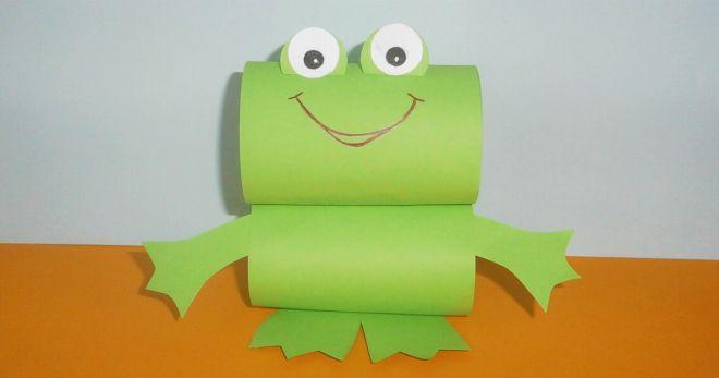 Сделай сам  поделки лягушки из бумаги 5